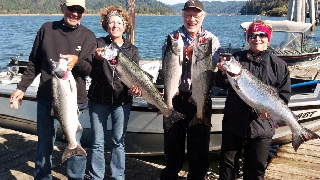 Nebraska salmon fishing crew for Nebraska fishing report